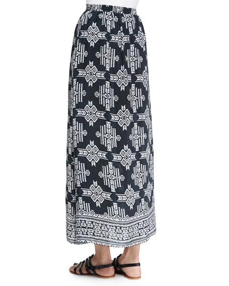 Margie Tribal-Print Maxi Skirt, Women's