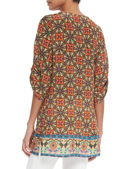 Marina Long Printed Tunic, Women's
