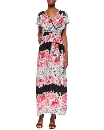 Floral-Print Silk-Blend Tie-Waist Dress