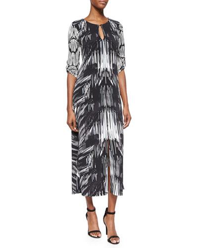 Horizon Striped Jersey Maxi Dress, Women's