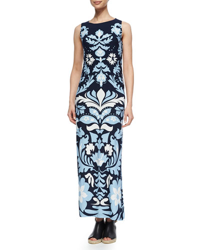 Luxe Long Sleeveless Dress, Women