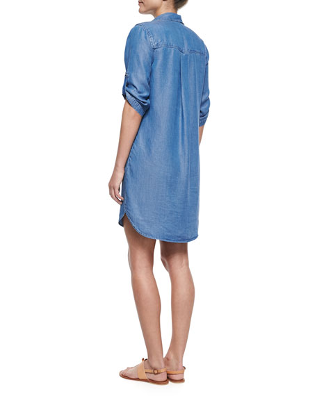 Splendid 3/4-Sleeve Denim Shirtdress