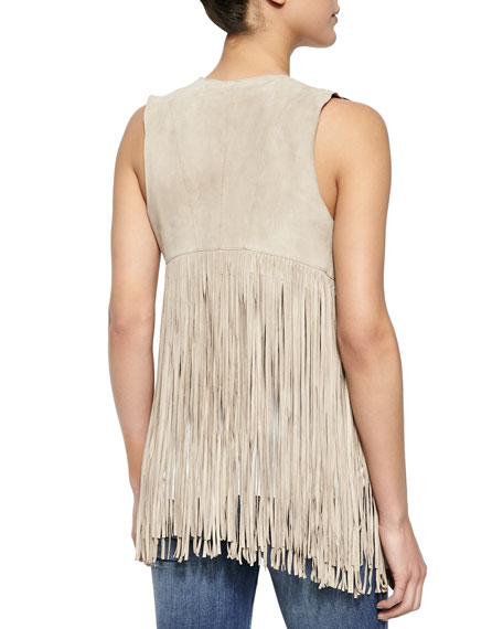 Sonia Suede Fringed Vest