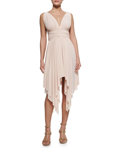 Goddess Dress with Asymmetric Hem