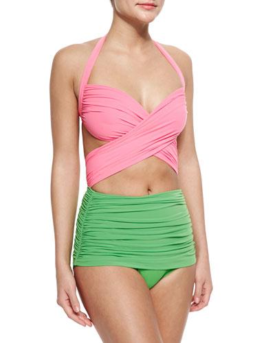 Bill Mio Combo One-Piece Swimsuit