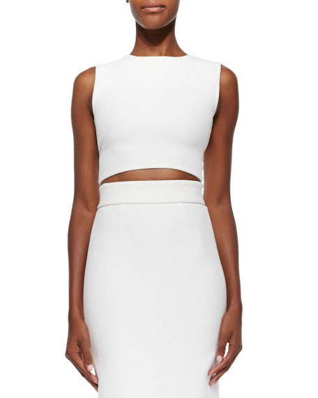Arie Twist-Back Crop Top