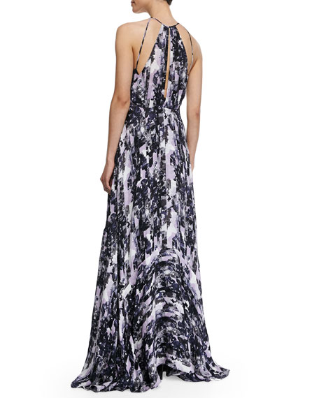 Sonoma Printed Halter Maxi Dress