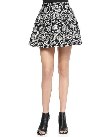 Alice + Olivia Anna Pleated Print Short Skirt