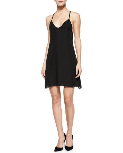 Ashelna V-Neck Multi-Strap Flare Dress