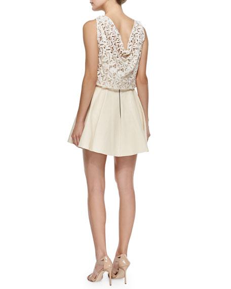 Julie Lace/Leather Swingy Dress