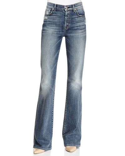 High-Waisted Vintage Boot-Cut Jeans