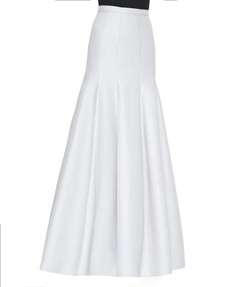 Halston Heritage Long Pleated Trumpet Skirt, Vapor