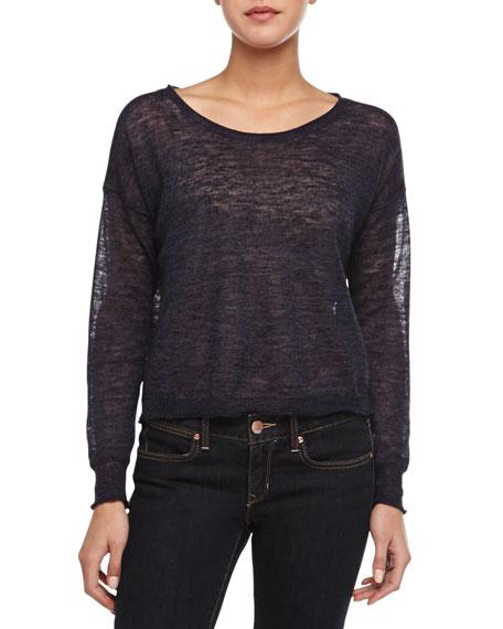 Demi Semisheer Slub Knit Sweater