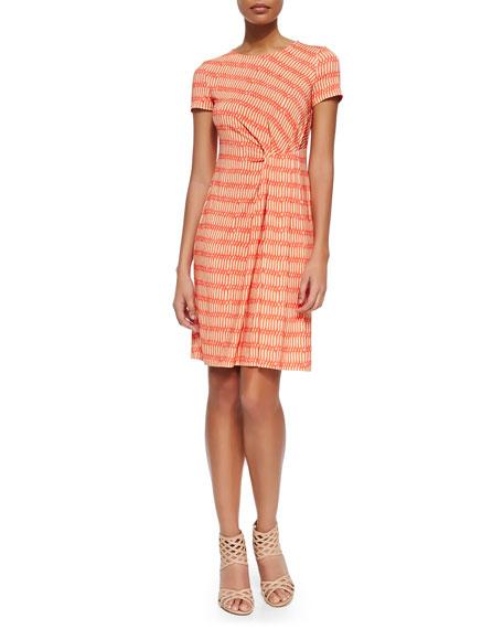 Lafayette 148 New York Printed Pleated Sheath Dress