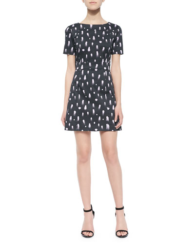 Vice Fit-and-Flare Printed Dress