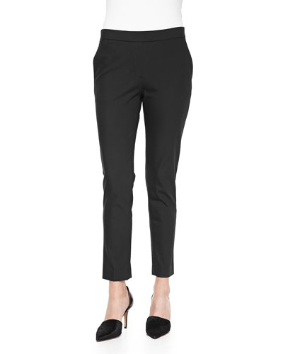 Theory Thaniel Cropped Straight-Leg Pants
