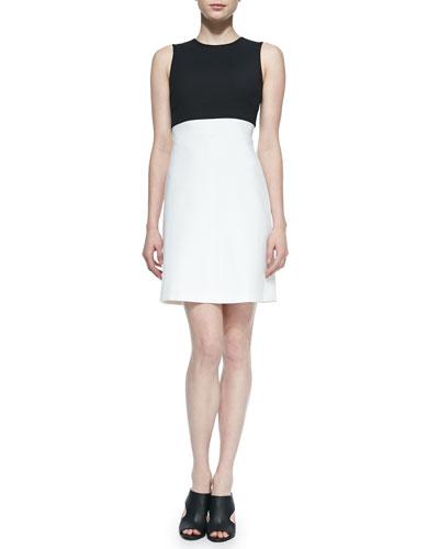 Raneid Two-Tone Crepe Dress
