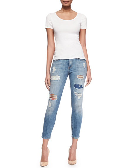 The Stiletto Distressed Skinny Jeans