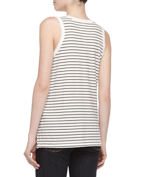 The Muscle Oakland Striped Tee