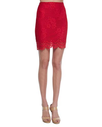 Tiki Bar Lace Pencil Skirt