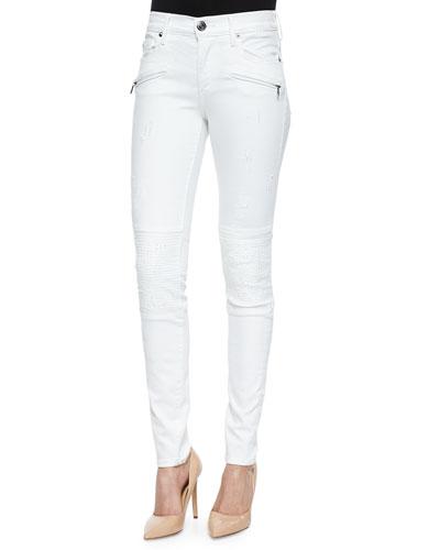 Halle Mid-Rise Biker Jeans