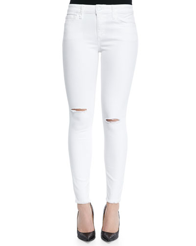 Finny Skinny-Fit Distressed Jeans