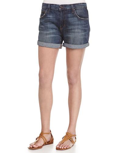 Lianna Denim Boyfriend Shorts