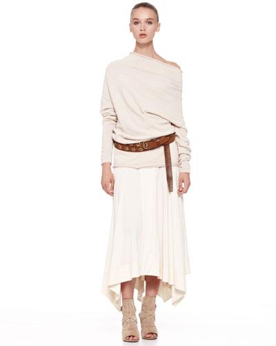 Jersey Handkerchief Skirt, Parchment