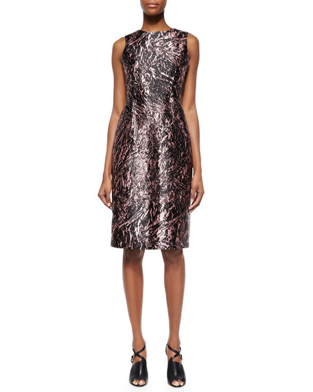 McQ Alexander McQueen Marbled Open-Back Satin Dress