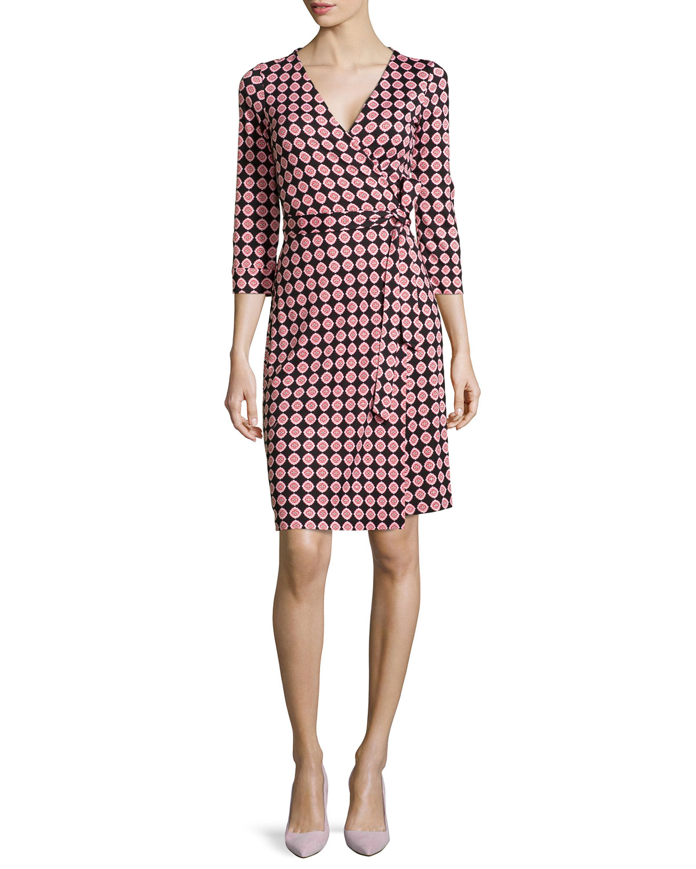 c4e6037809556 Diane von Furstenberg New Julian Two Silk Jersey Wrap Dress | Neiman ...