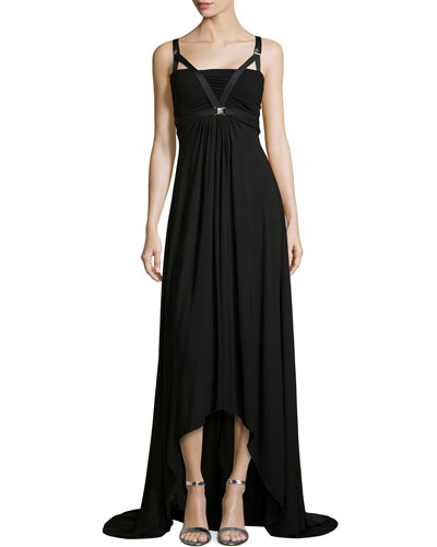 Bandeau Harness High-Low Maxi Dress