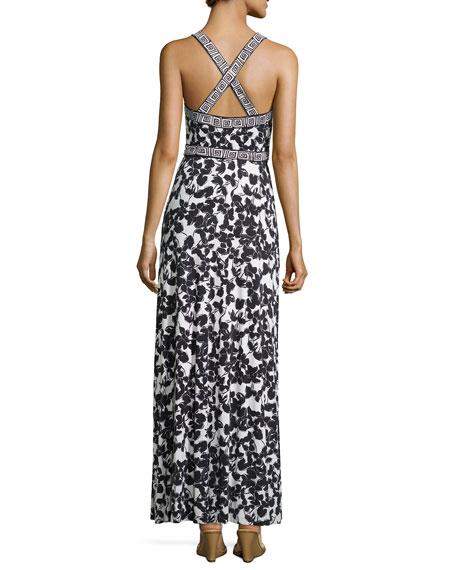 Diane Von Furstenberg Samson Maxi Wrap Dress In Silk Jersey