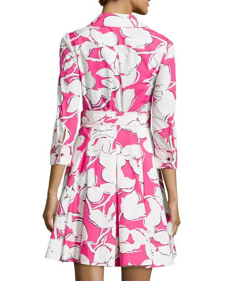 Jadrian Fl Wrap Dress With Pleated Skirt