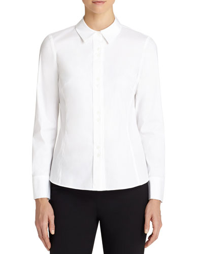 Francine Fitted Double-Button Blouse