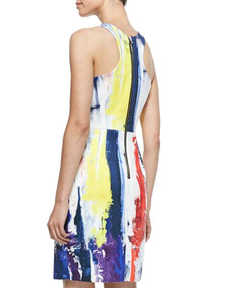 Graffiti-Print Racerback Sheath Dress