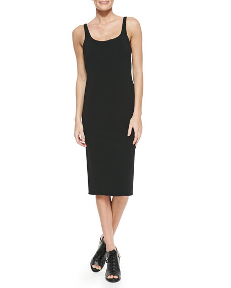 Rag & Bone Nile Stretch-Knit Scoop-Neck Dress, Caviar