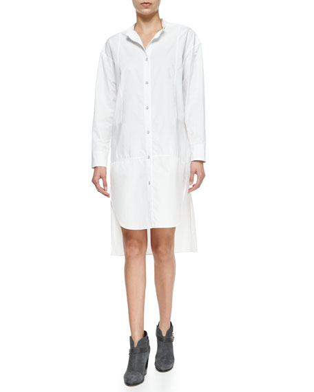 Rag & Bone Axis Woven High-Low Cotton Shirtdress,