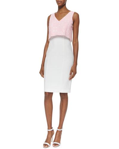 Mercy Sleeveless V-Neck Popover Combo Dress