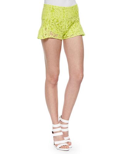 Drake Ruffled Lace Shorts