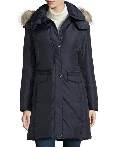 Darby Fur-Hood Coat