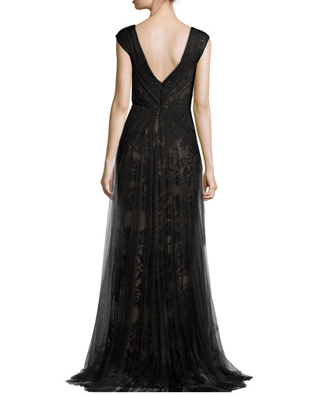 Silk Gown of Organza, Chiffon and Charmeuse