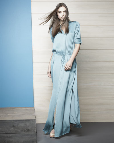 long sleeve maxi shirt dress « Bella Forte Glass Studio