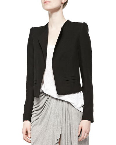 Open-Front Cropped Jacket