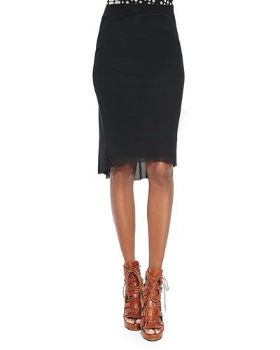 Fitted Draped-Back Skirt