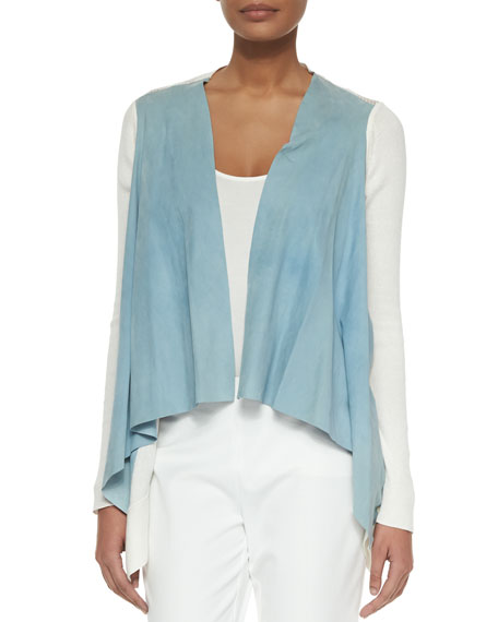 Elie Tahari Judy Suede and Knit Jacket