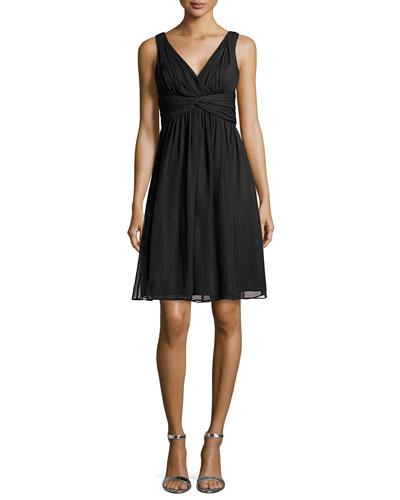 Jessie Sleeveless Cocktail Dress, Black