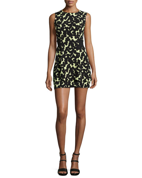 A.L.C. Frankie Printed Sleeveless Silk Dress