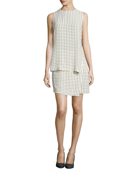 A.L.C. Carey Dotted Silk Layered Dress