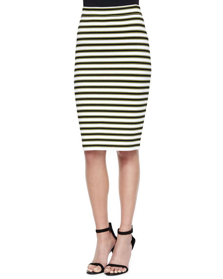 Marilyn Striped Knit Pencil Skirt