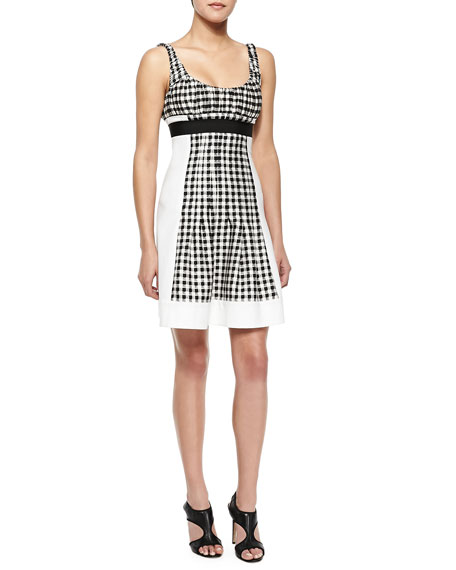Diane von Furstenberg Daisy Empire-Waist Gingham Dress